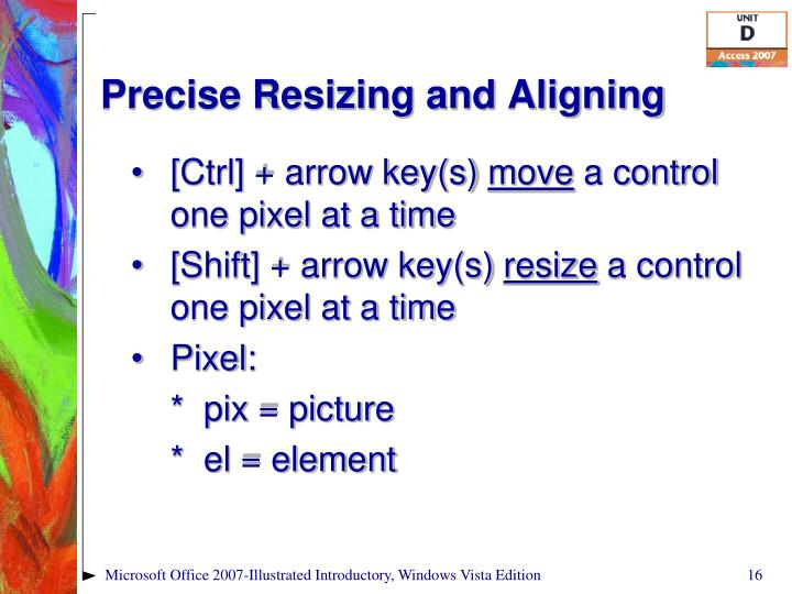 Precise Resizing and Aligning