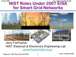 nist roles under 2007 eisa for smart grid networks