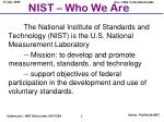nist who we are
