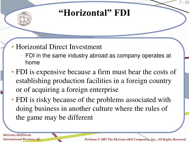 Horizontal Direct Investment