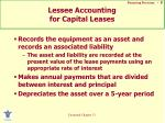 lessee accounting for capital leases