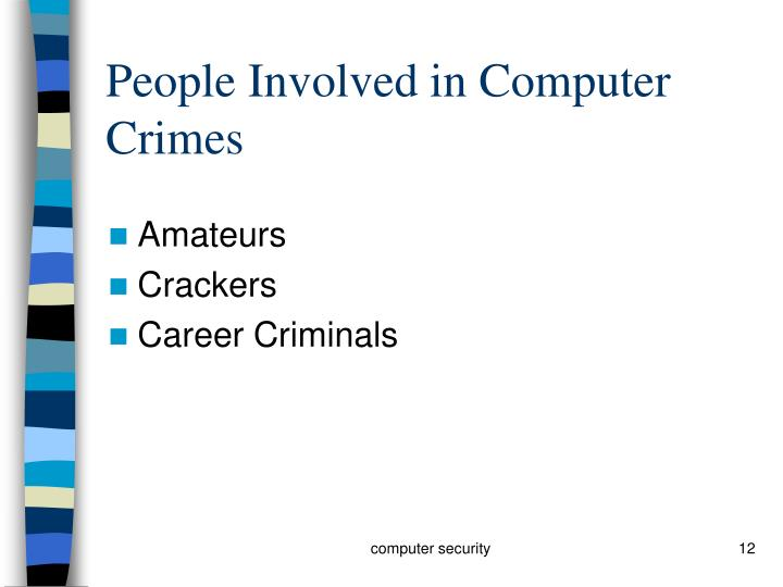 People Involved in Computer Crimes