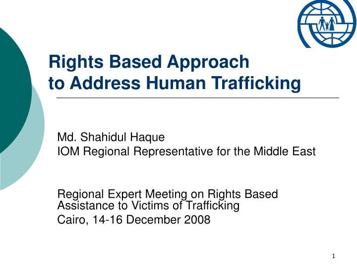 rights based approach to address human trafficking