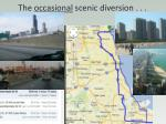 the occasional scenic diversion