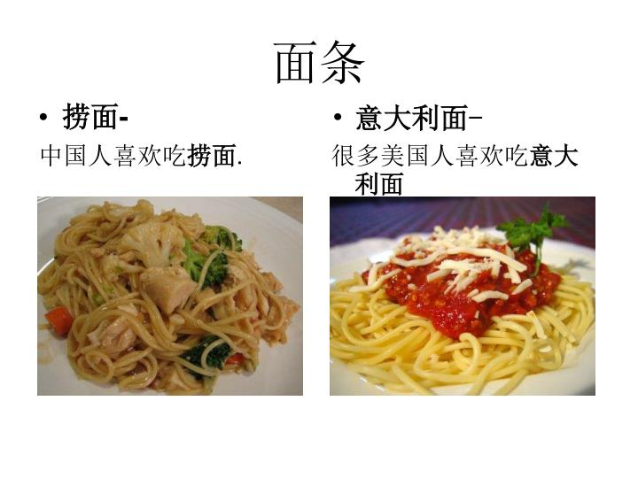 Ppt chinese food vs american food for American cuisine presentation