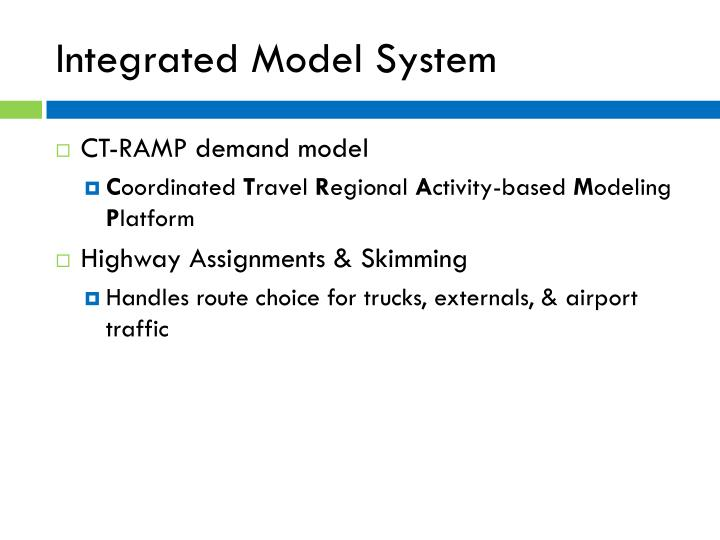Integrated Model System