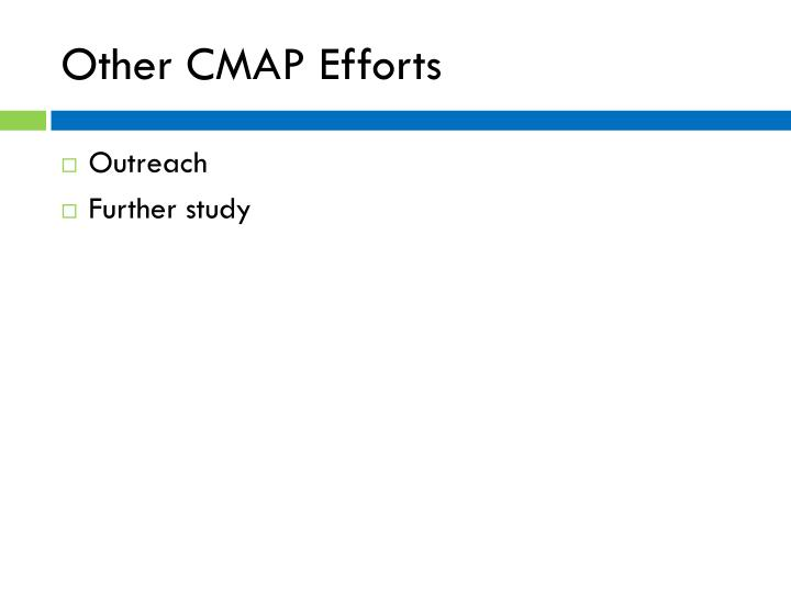 Other CMAP Efforts