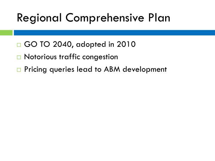 Regional comprehensive plan