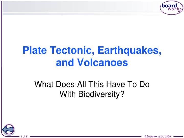 plate tectonic earthquakes and volcanoes n.