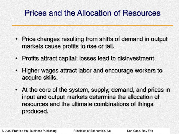 Prices and the Allocation of Resources