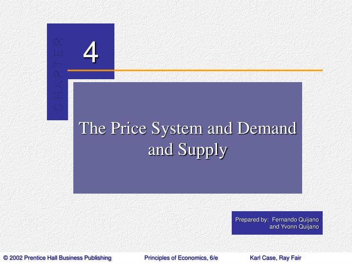The price system and demand and supply