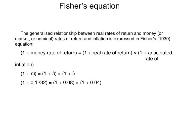 Fisher's equation