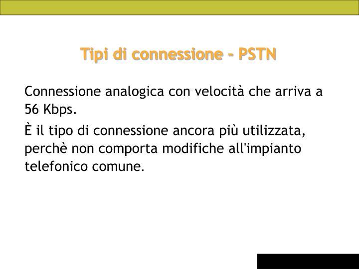 Tipi di connessione - PSTN