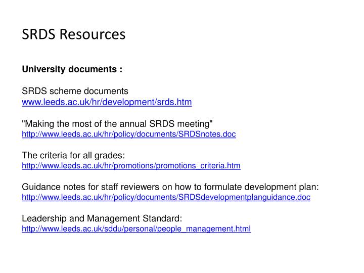 SRDS Resources