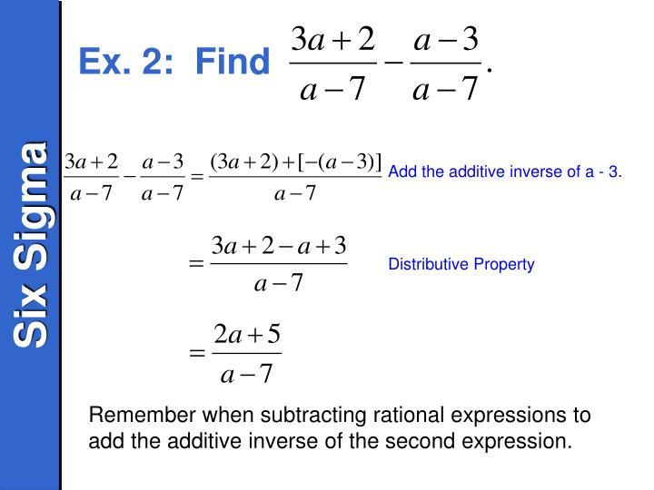 Ex. 2:  Find