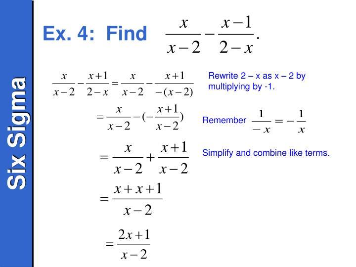 Ex. 4:  Find