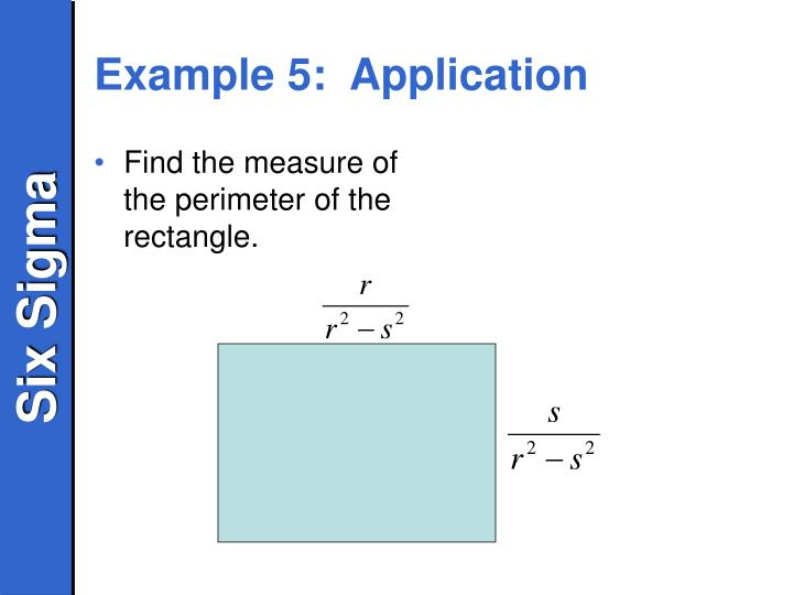 Example 5:  Application