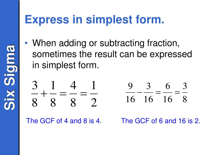 Express in simplest form.