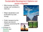 sustainable development options can assist mitigation