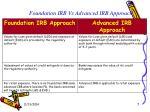 foundation irb vs advanced irb approach