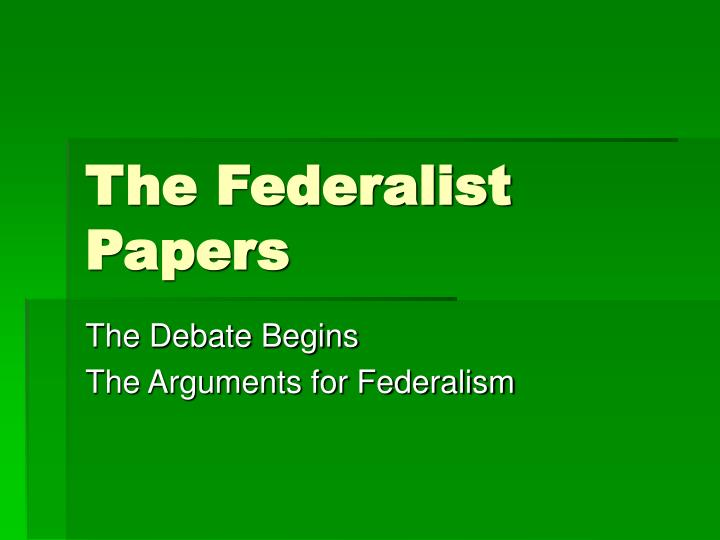 the federalist papers n.