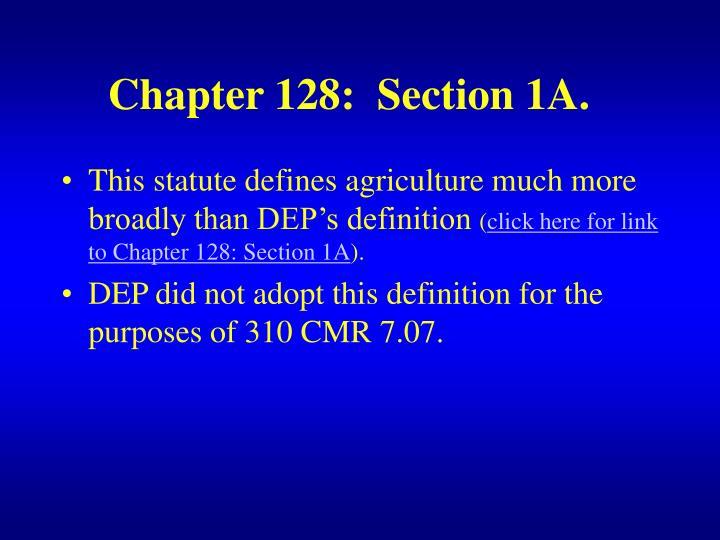 Chapter 128:  Section 1A.