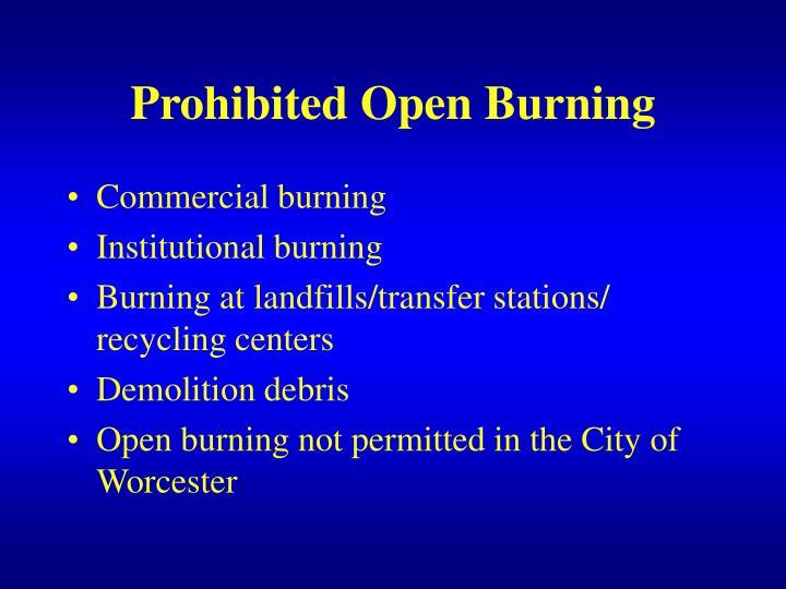 Prohibited Open Burning