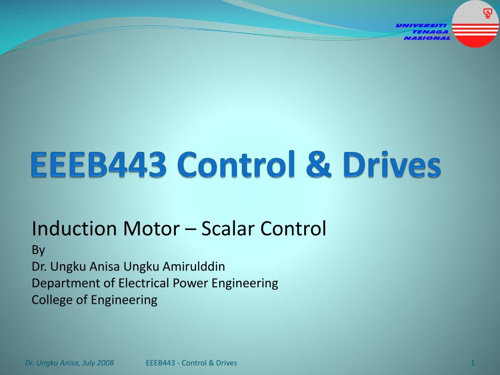Ppt Eeeb443 Control Drives Powerpoint Presentation Id6532812 Constant Airgap Induction Motor Equivalent Circuit N