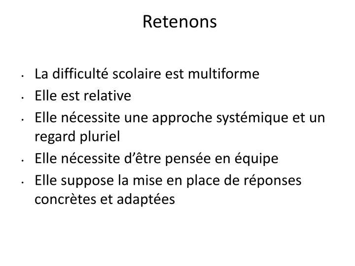 Retenons