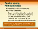 gender among horticulturalists