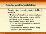 gender and industrialism