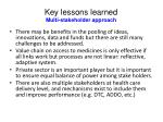 key lessons learned multi stakeholder approach