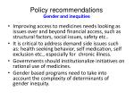 policy recommendations gender and inequities