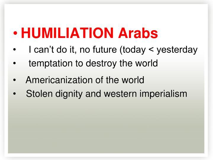 HUMILIATION Arabs