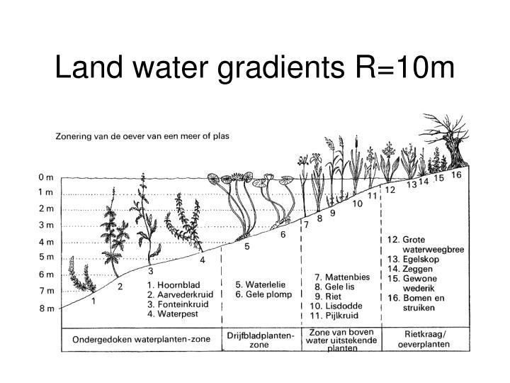 Land water gradients R=10m
