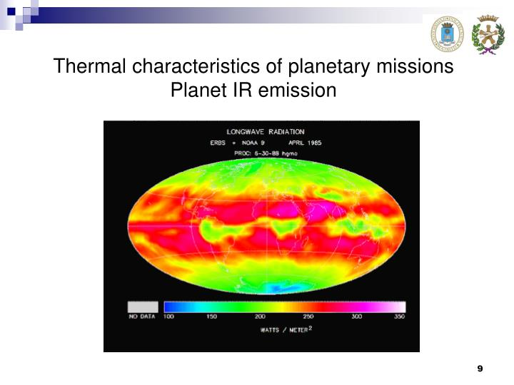 Thermal characteristics of planetary missions