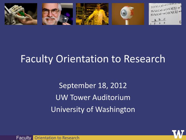 faculty orientation to research n.