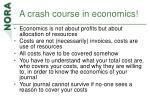 a crash course in economics