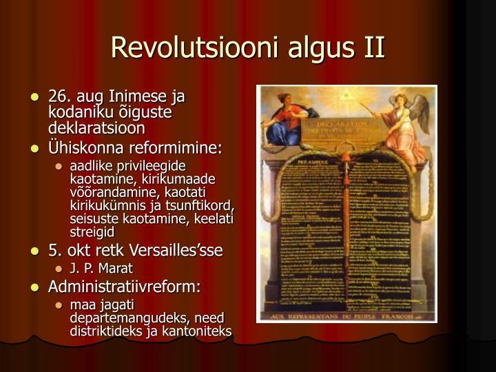 Revolutsiooni algus II