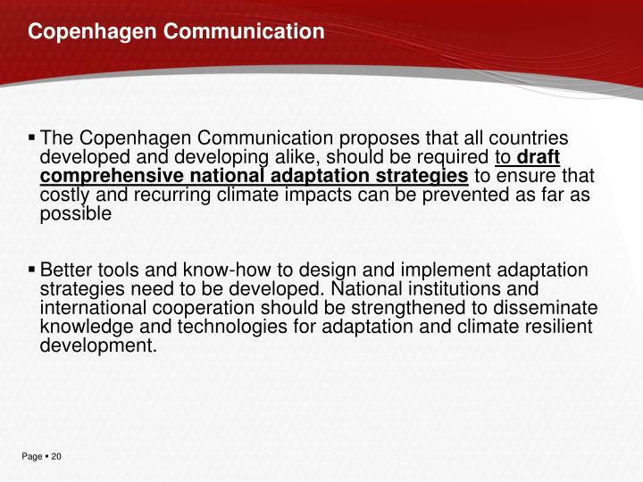 Copenhagen Communication
