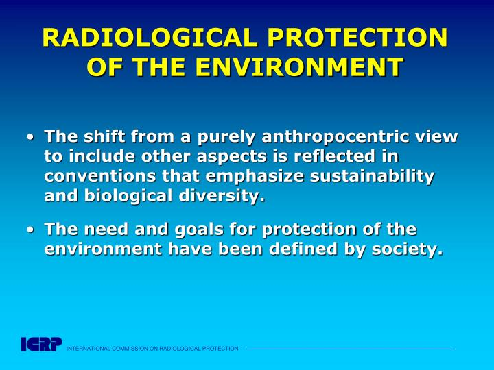 RADIOLOGICAL PROTECTION