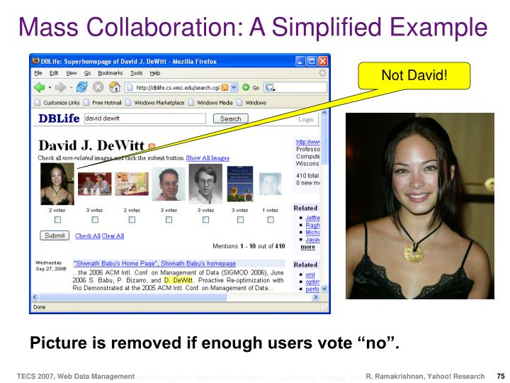 Mass Collaboration: A Simplified Example