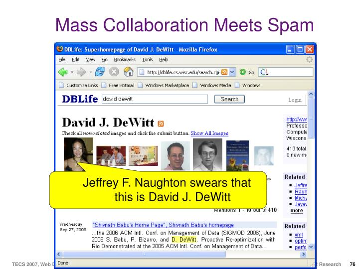 Mass Collaboration Meets Spam