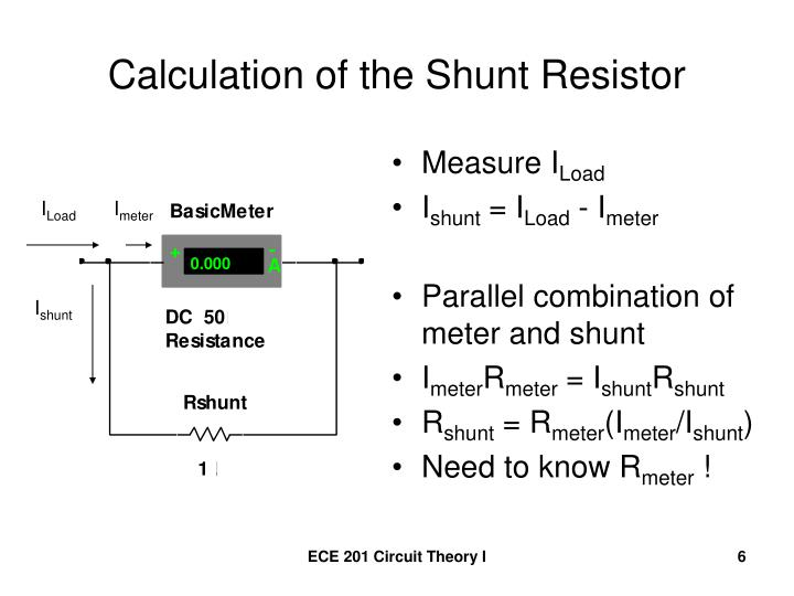 Calculation of the Shunt Resistor