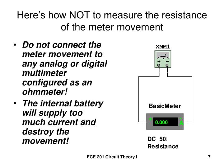 Here's how NOT to measure the resistance of the meter movement