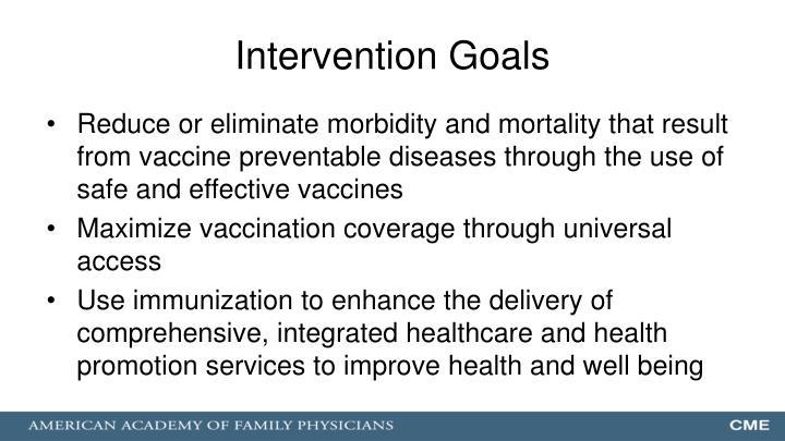 Intervention Goals