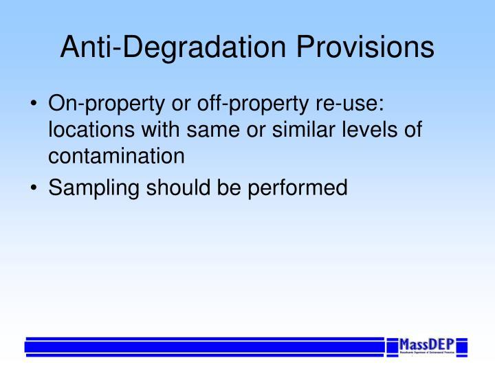 Anti-Degradation Provisions