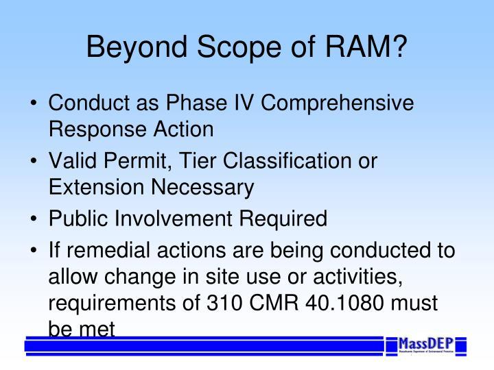 Beyond Scope of RAM?