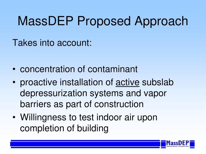 MassDEP Proposed Approach