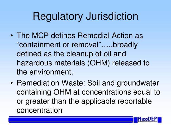 Regulatory jurisdiction